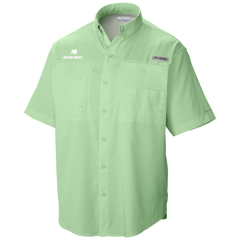 Columbia® Men's PFG Tamiami II Short Sleeve Shirt, Key West (Green)