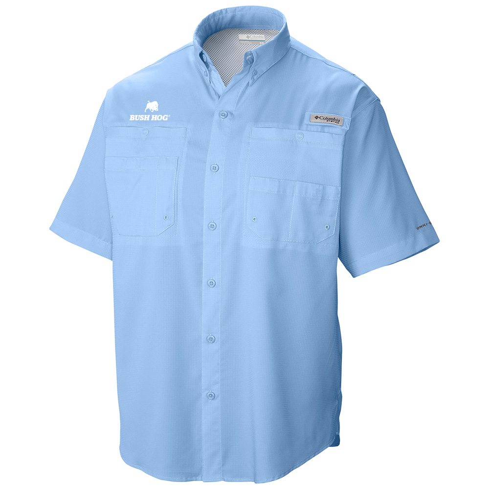 Columbia® Men's PFG Tamiami II Short Sleeve Shirt, Sail (Blue)