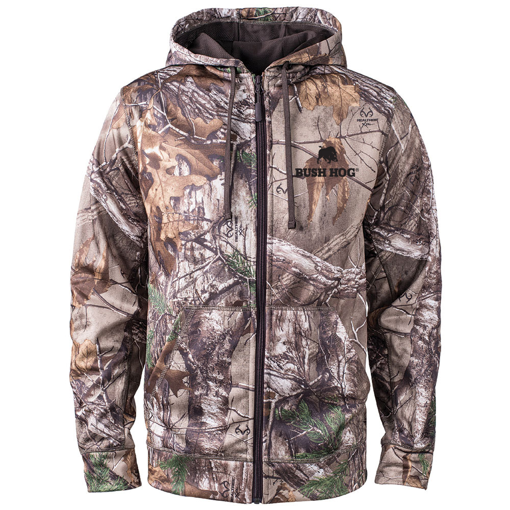 Realtree® Xtra Hooded Performance Full Zip Fleece Jacket